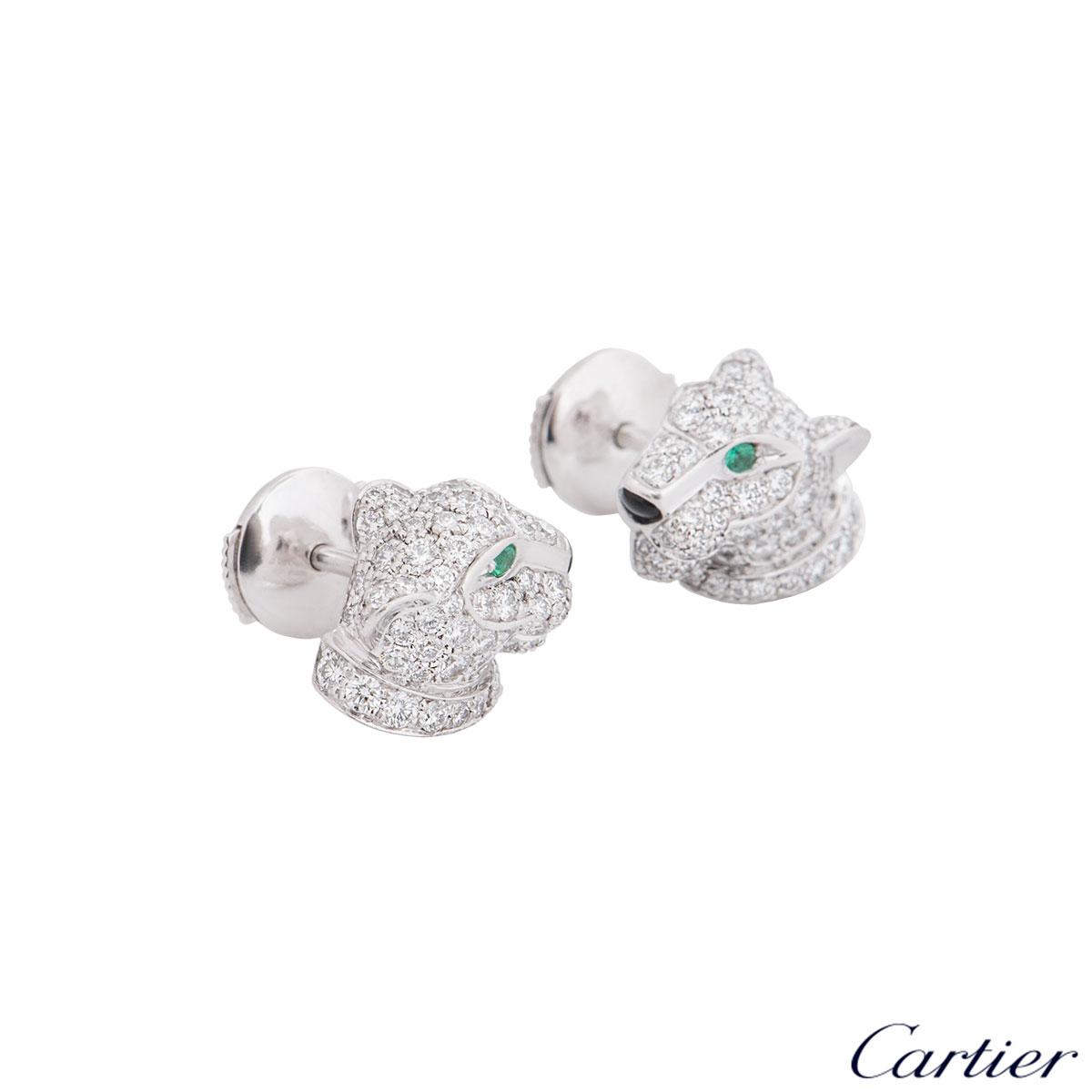 Cartier White Gold Panthere De Cartier Earrings N8050700